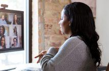 Woman Looking at Screen